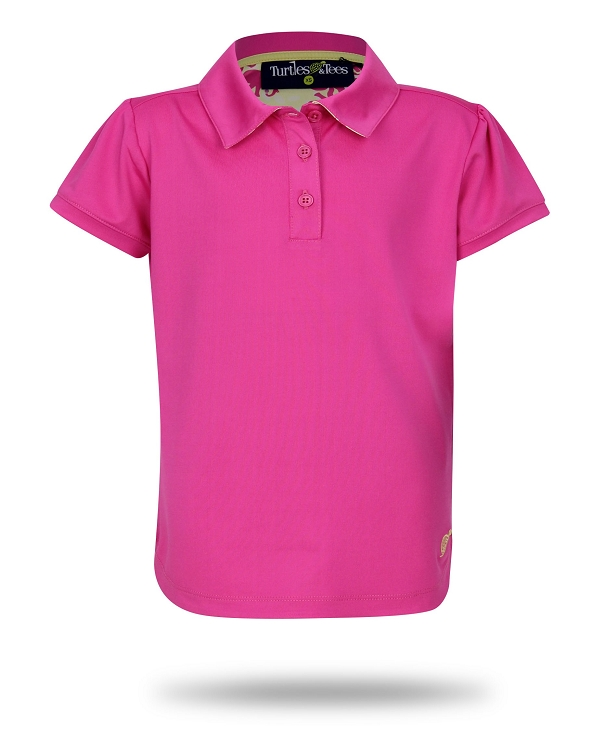 Cap Sleeve Polo-Pink with Dots In One or Take a Swing Print